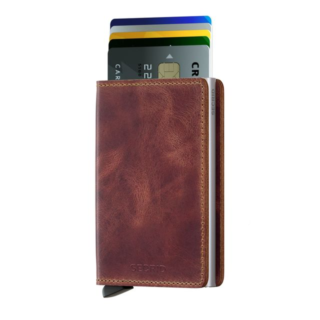 Secrid Slimwallet Vintage plånbok i skinn och metall