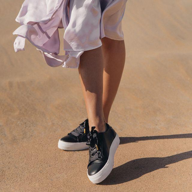 Rizzo Mia sneakers i skinn, dam