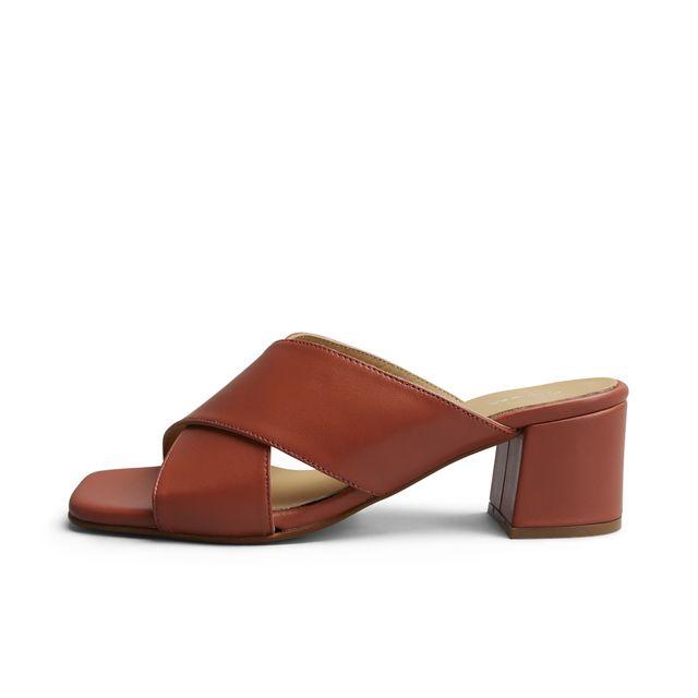 Rizzo Clara slip-in sandaler i skinn, dam