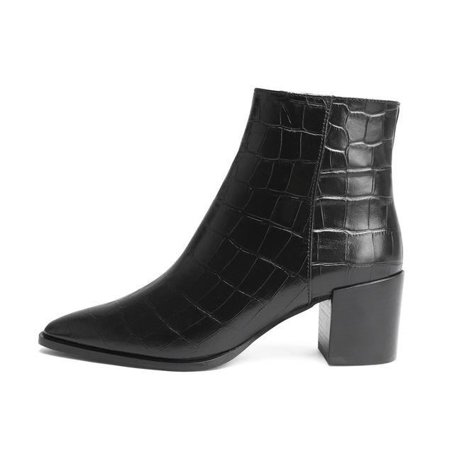 Rizzo Elvira boots i skinn, dam