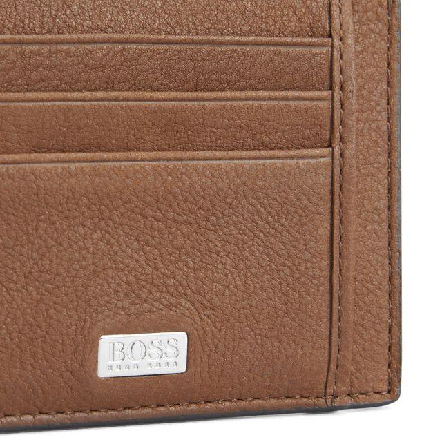 Hugo Boss Crosstown korthållare i skinn