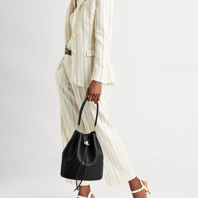 Lauren Ralph Lauren Andie Drawstring handväska i skinn