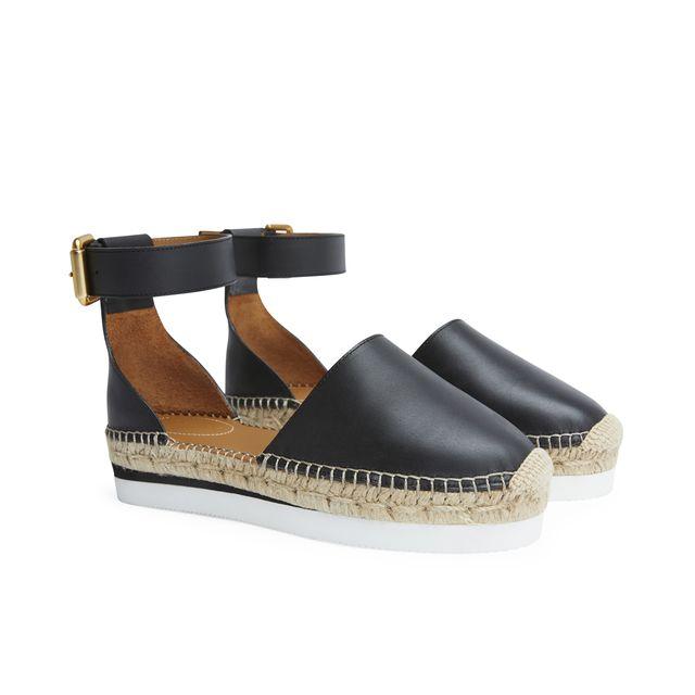 See By Chloé Glyn espadrillos sandaler i skinn, dam