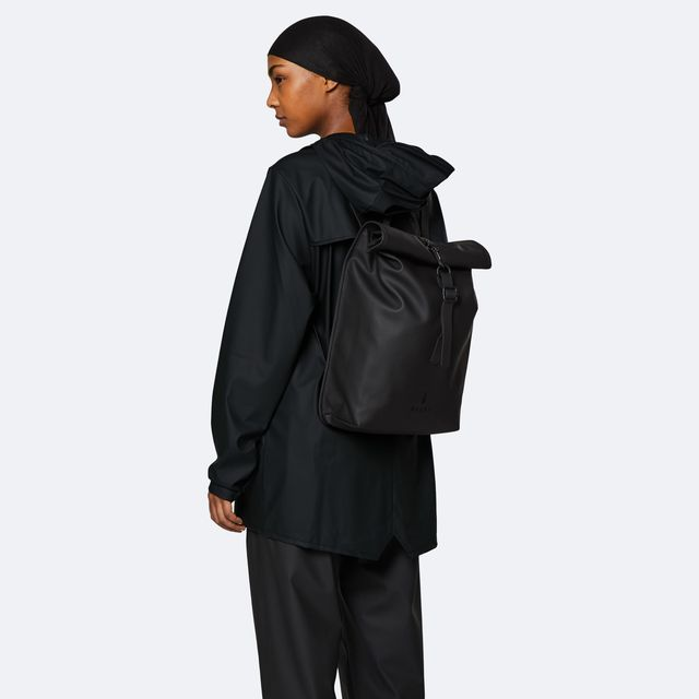 Rains Rolltop Mini ryggsäck, vattenavvisande