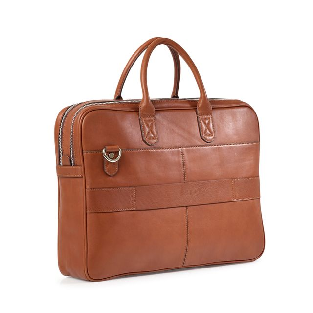 Rizzo Paul Wide briefcase, portfölj i skinn
