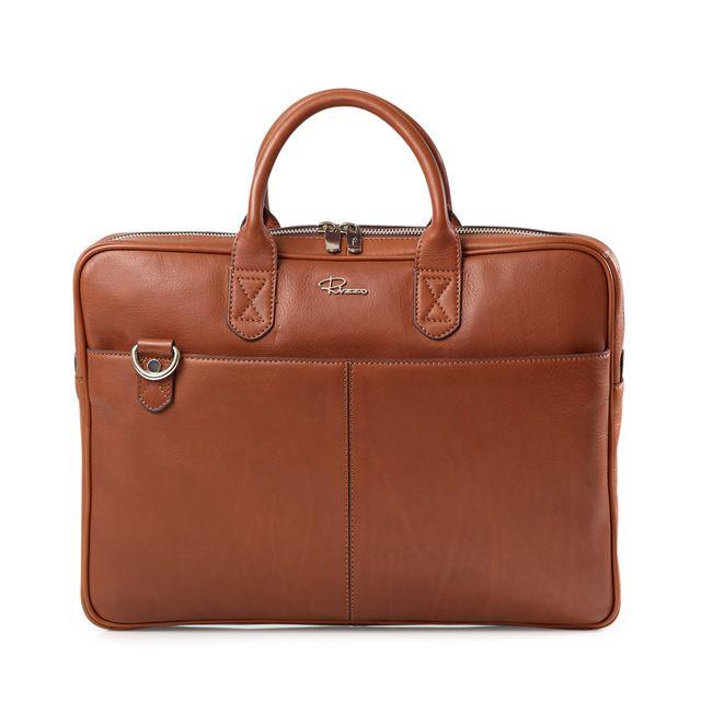 Rizzo Paul Slim briefcase, portfölj i skinn
