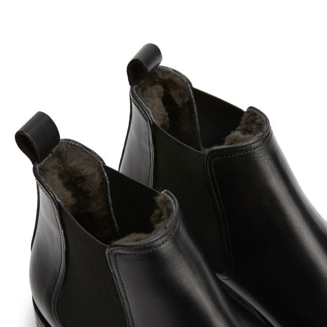 Rizzo Adelfio fodrade chelsea boots i skinn