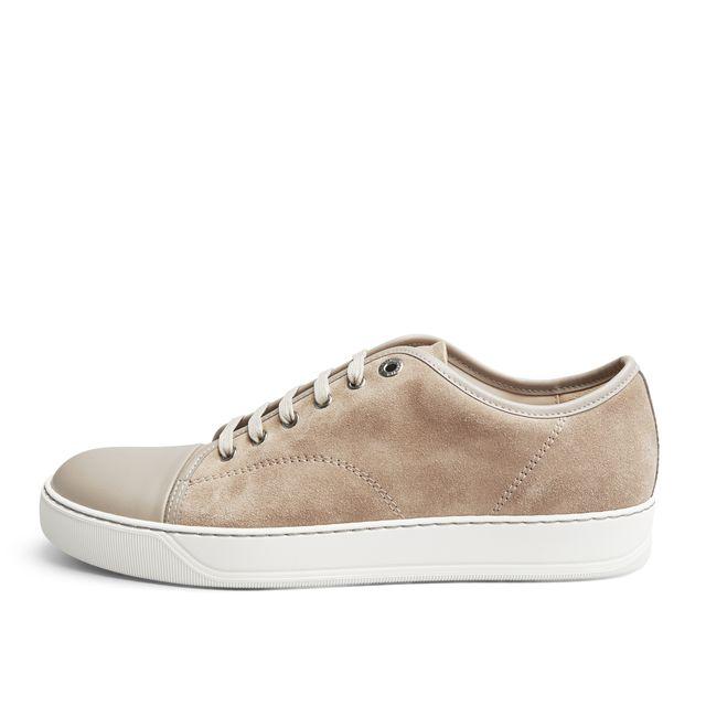 Lanvin Nappa Cap-Toe sneakers i mocka