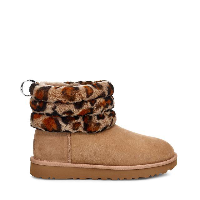 UGG Fluff Mini Quilted boots i fårskinn