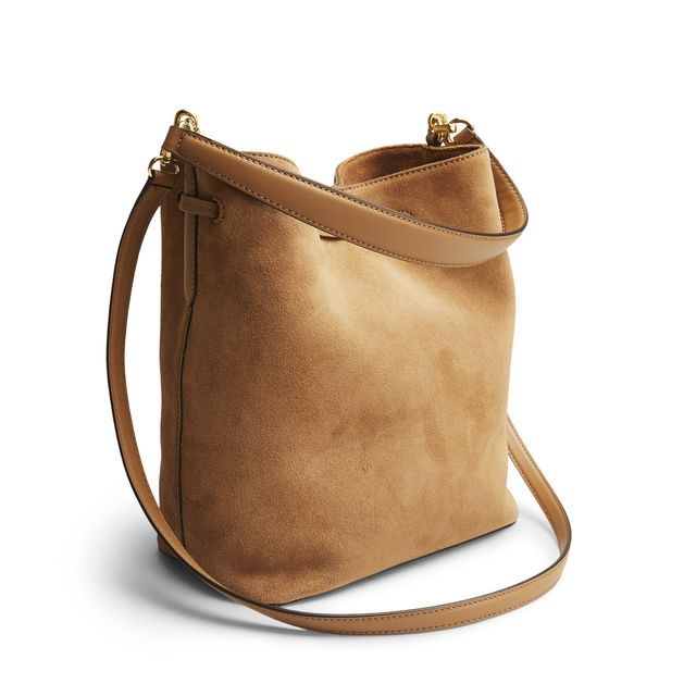 Lauren Ralph Lauren Debby Drawstring handväska i mocka