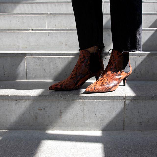 Rizzo Ellia Chelsea Boots i skinn