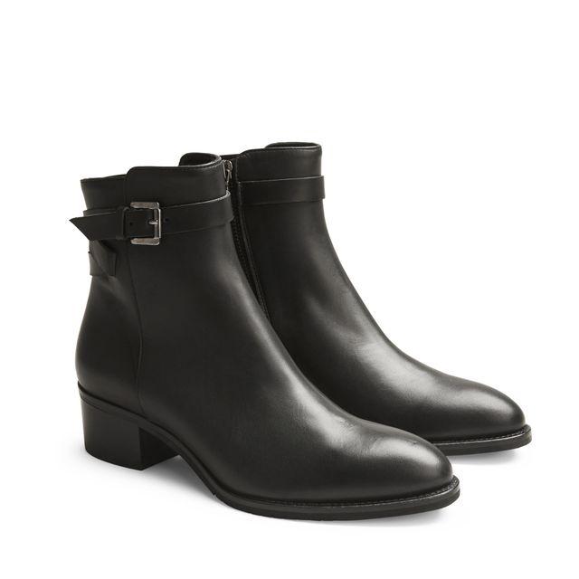 Rizzo Elena zip boots i skinn