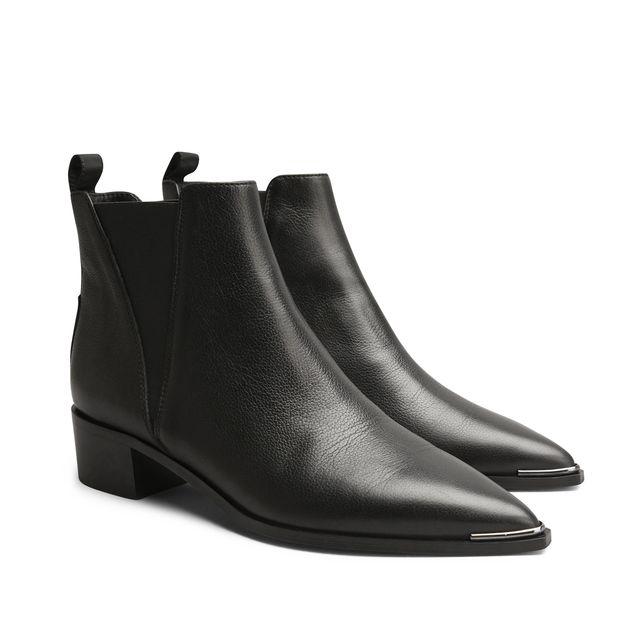 Acne Jensen Smallgrain boots i skinn, dam | Rizzo