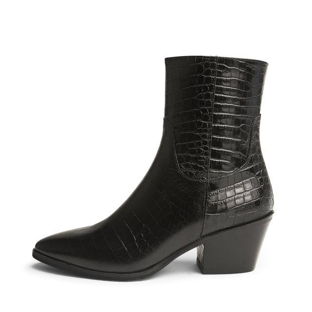 Rizzo Emina boots i krokopräglat skinn