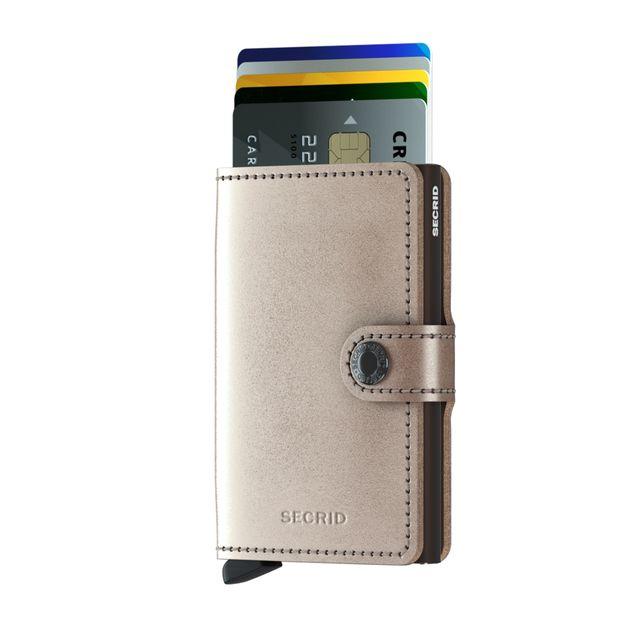 Secrid Miniwallet Metallic liten plånbok