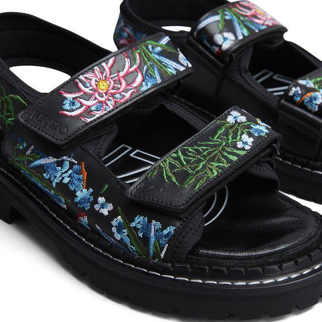 Kenzo Kamden sandaler i skinn, dam