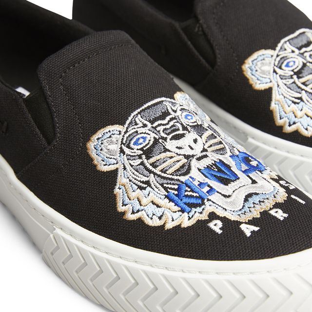 Kenzo K-skate slip-on sneakers i tyg