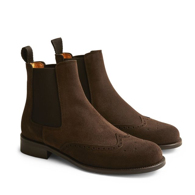 Rizzo Arianna chelsea boots i mocka