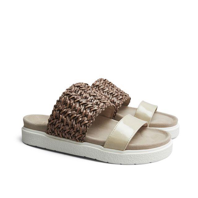 Inuikii Safir slip-in sandaler i skinn, dam