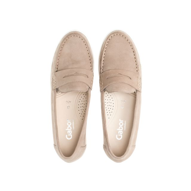 Gabor loafers i mocka, dam