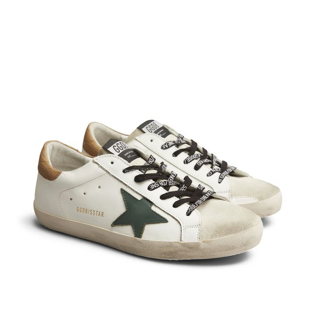 Golden Goose Superstar sneakers i skinn, herr