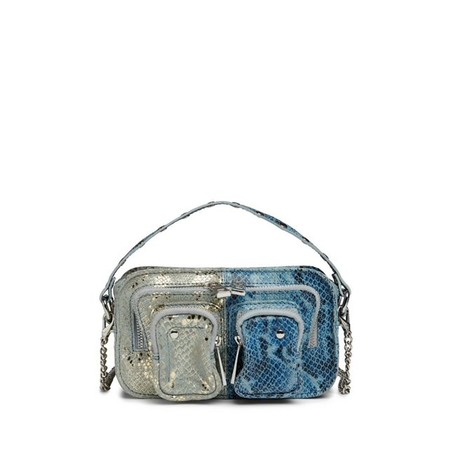 Nunoo Helena Snake Mix liten handväska i skinn