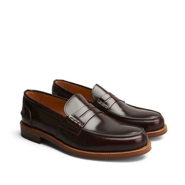 Rizzo Bruno penny loafers i skinn, herr