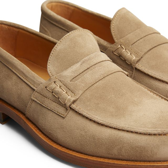 Rizzo Bruno penny loafers i mocka