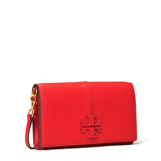 Tory Burch McGraw liten handväska i skinn