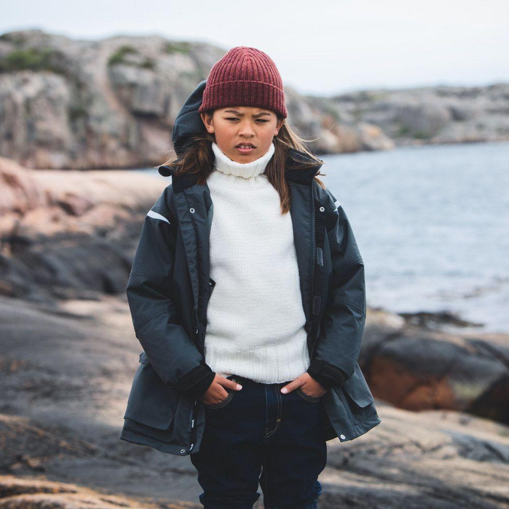 PARKA vinterparkas på klippor