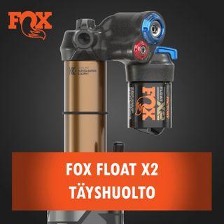 Fox Float X2 iskunvaimentimen täyshuolto