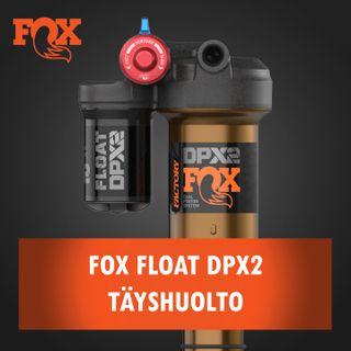 Fox Float DPX2 iskunvaimentimen täyshuolto