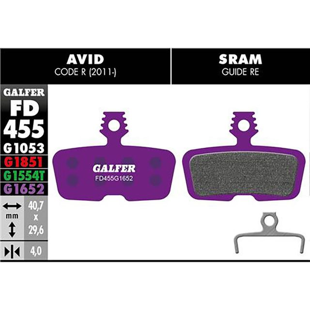 Galfer E-bike Jarrupalat Avid Sram Code R 2011 / Guide