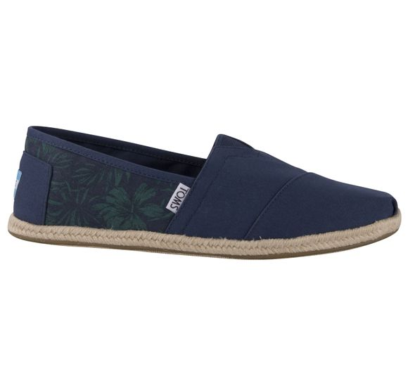 Nvy Canvas Hibiscus Rope Mn