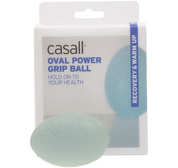 Oval power grip ball