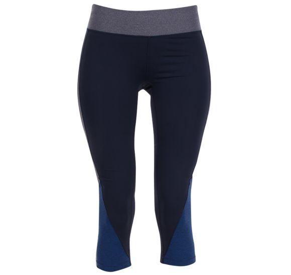 Melange contrast 3/4 tights