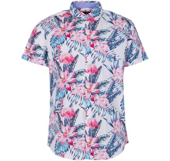 Hawaii Pink & Blue Flamingo Sh