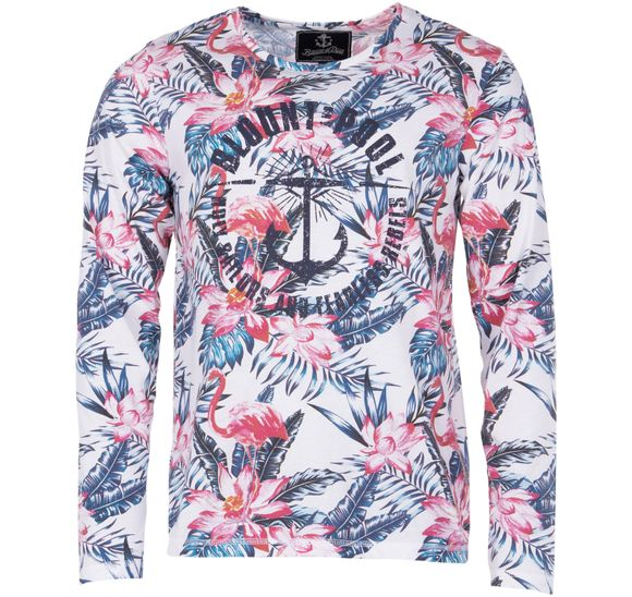 Pink & Blue Flamingo L/S Tee