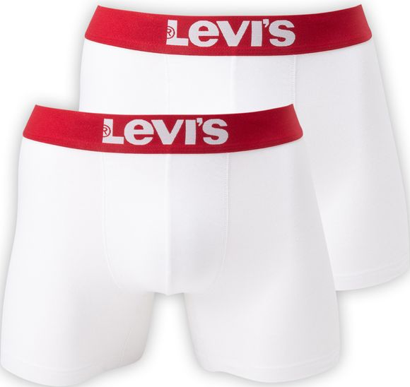LEVIS MEN SOLID BASIC BOXER 2P