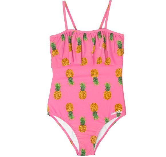 Dark Pink Pineapple SwimsuitJR