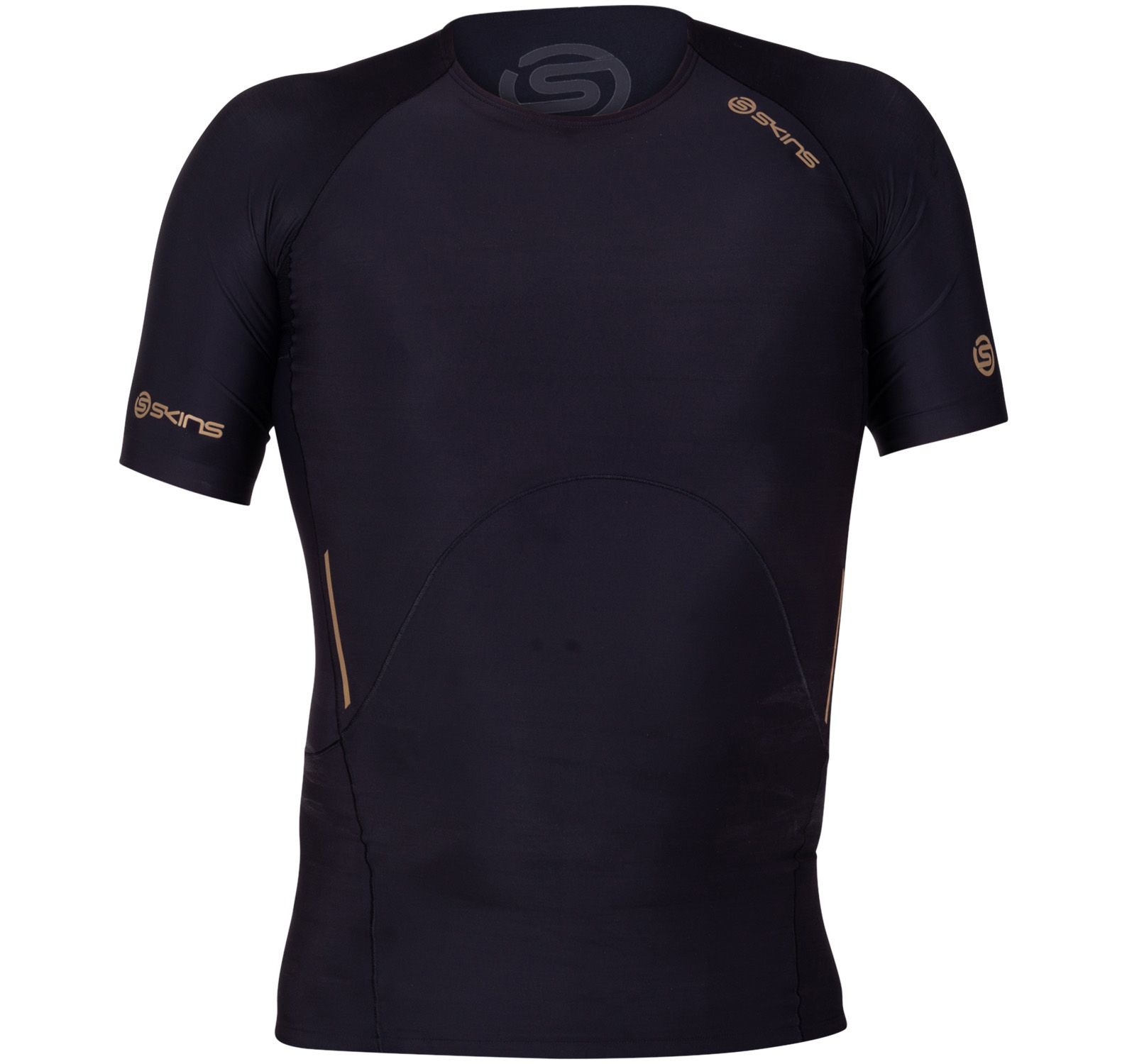 A400 Mens Top Short Sleeve, Black/Gold, L,  Skins