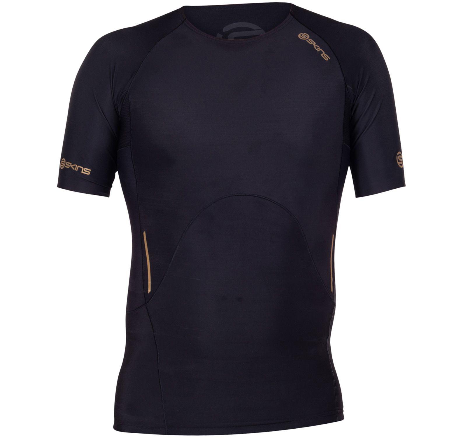 A400 Mens Top Short Sleeve, Black, Xl,  Skins