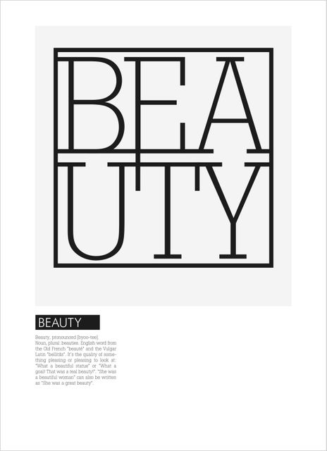 Beauty text poster