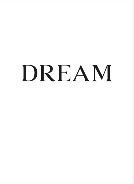 Big dream text poster