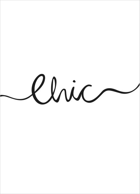 Chic handwritten text poster