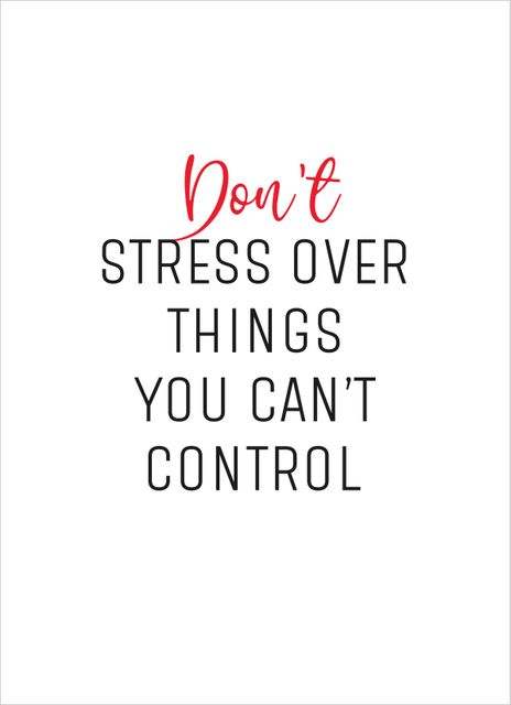 Don´t stress text poster