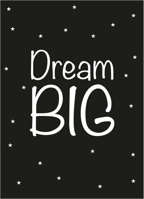Dream big text poster