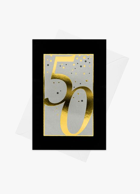 Födelsedagskort 50 år