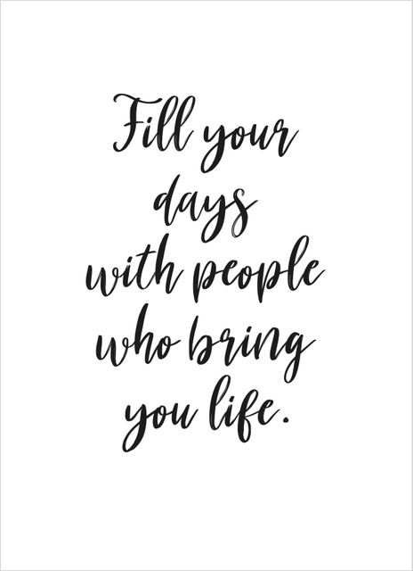 Fill your days text poster