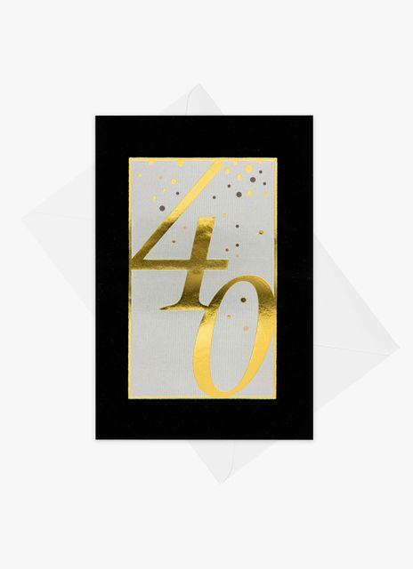 Födelsedagskort 40 år